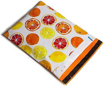 100 10x13 Yellow Orange Citrus Designer Mailers Poly Shipping Envelopes Bags