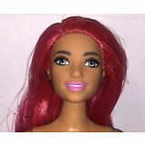 Barbie Made to Move Dancer Posable Curvy Nude Articulated Tan Doll Pink Hair NEW