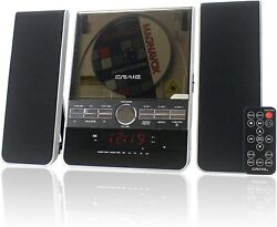 Craig Vertical CD Shelf System with AM/FM Stereo Radio and Dual Alarm Clock, 3PC