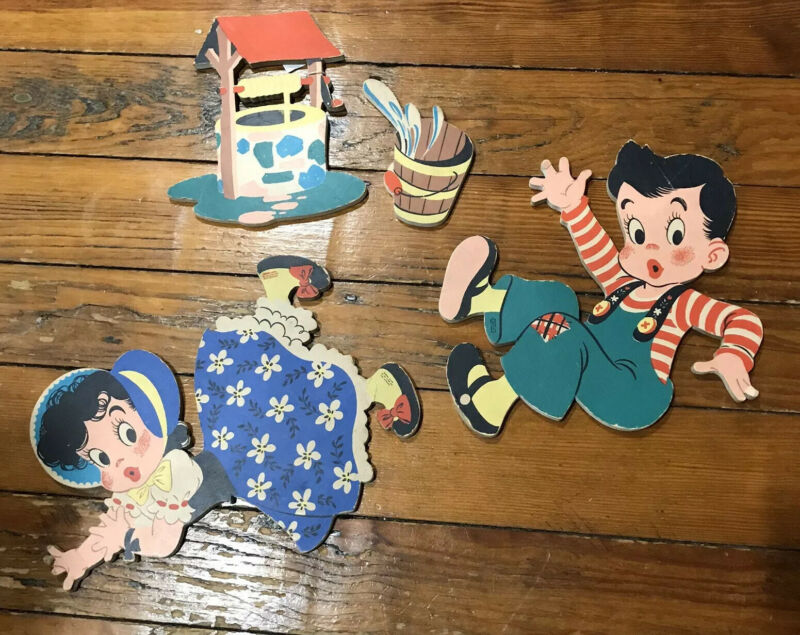 1940's Dolly Toy Jack & Jill Complete