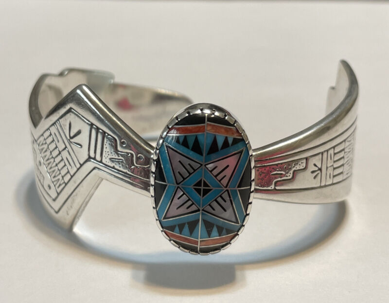 Carolyn Pollack Roderick Tenorio Sterling Silver Morning Star Mosaic Bracelet