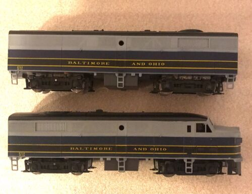 AMERICAN MODELS S SCALE 813 BALTIMORE & OHIO FA-2/FB-2 DIESEL LOCOMOTIVES