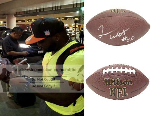 Terrance West Signed NFL Football Browns Titans Ravens Exact Proof Autograph COA