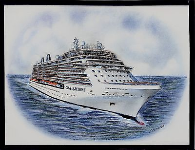 Original Art Work  Celebrity Eclipse  Celebrity Cruises   Cruise Ship