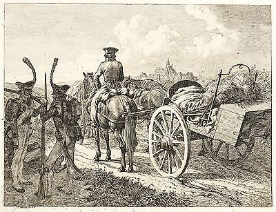 JOHANN CHRISTOPH ERHARD - DIE RUSSISCHE FELDSCHMIEDE - Radierung 1815