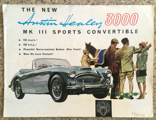 1964-1965 Austin Healey 3000 Mk III Catalog Sales Brochure Excellent Original