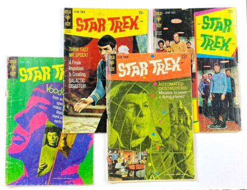 1967 Star Trek 3,6,7,8 Gold Key TV comic book lot 1960