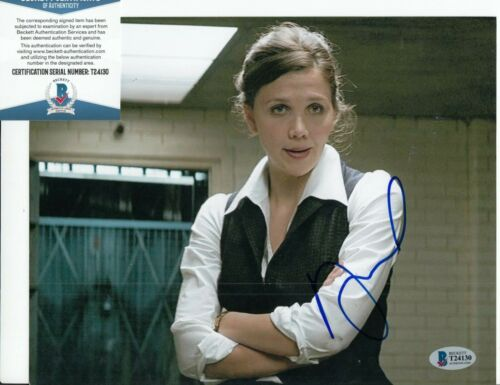 MAGGIE GYLLENHAAL signed (THE DARK KNIGHT) 8X10 *Rachel* photo BAS BECKETT #1