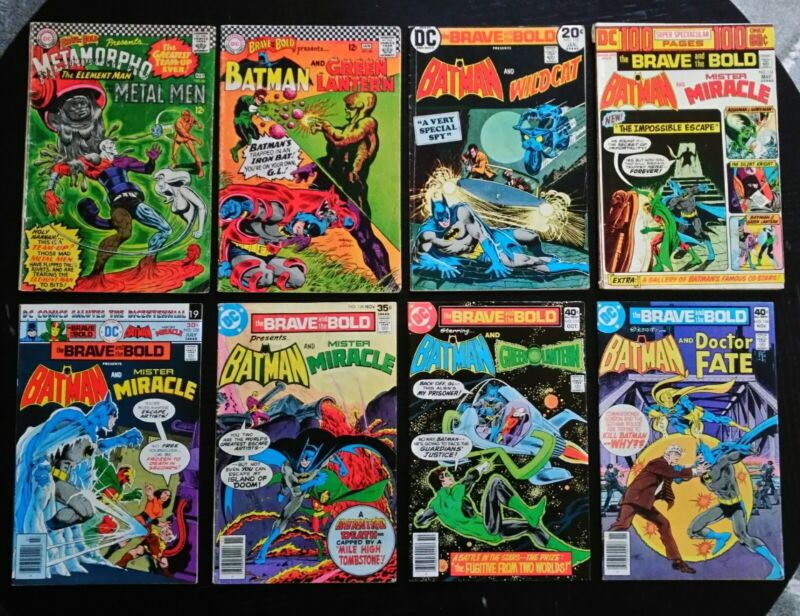 Brave and the Bold Silver/Bronze Age Lot 66 69 110 112 128 138 155 156