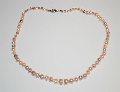 New Sterling Silver Pearl Pastel 4-8mm 18