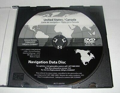 2007- 2009 Cadillac Escalade 2016 Navigation DVD Map Update GM p/n:23286667 14.3