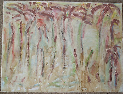 Picture by Lee Pearson(2007) - clay, pastels and dirt on canvas