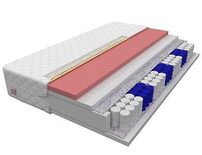 Matratze 140x200 EUPHORIE 24 cm 7 Zonen VISCO MEMORY Taschenfederkern H2 und H3