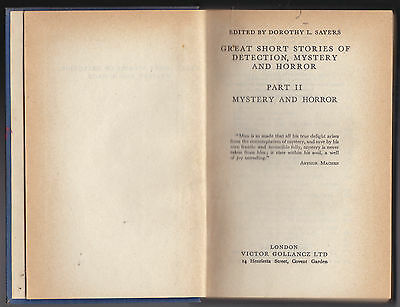 Dorothy L Sayers, Stories of Mystery and Horror - 1947, M R James, Saki, Burrage for sale  Shipping to Ireland