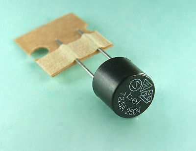 6Pcs Bel Fuse Mrt 2 5A 250V Sub Miniature Radial  Slow Blow Micro