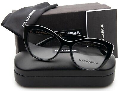 NEW D&G Dolce & Gabbana DG3284 501 BLACK EYEGLASSES GLASSES 53-17-140mm (D&g Eye Glasses)