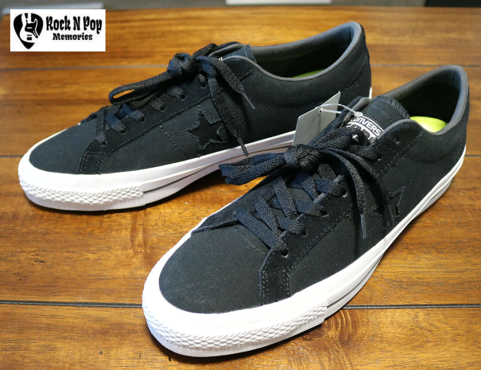 0d56784c8fe4 Men s Converse CONS One Star Canvas OX Black White Suede Casual Shoes  153710C