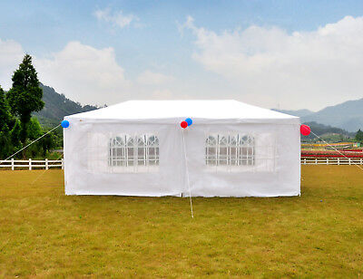 10'x20' W/ 6 sides Canopy Party Tent Outdoor Wedding Tent BBQ Canopy Gazebo