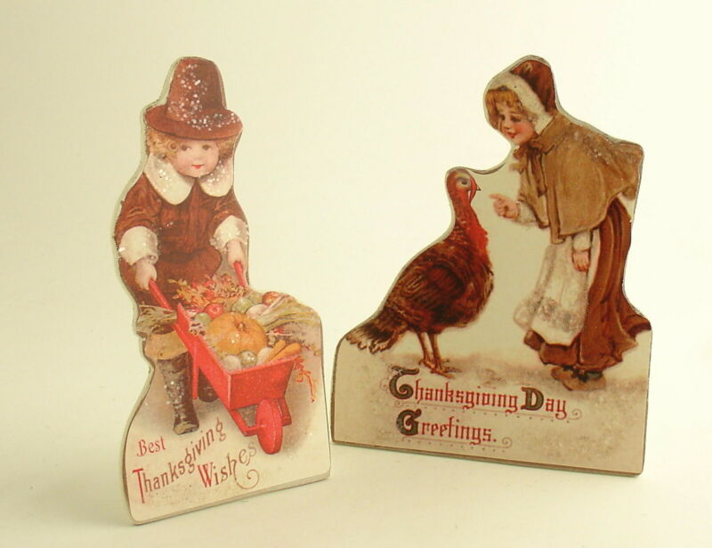 Thanksgiving Decorations Pilgrims Turkey Bethany Lowe