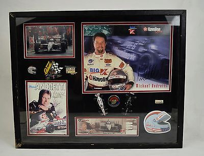 Michael Andretti Shadow Box Collage Collection Autograph Pictures Race Tickets