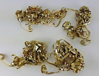 4 PACK LOT HALLMARK GOLD CURLED RIBBON CURL CURLING GIFT GOLDEN ANNIVERSARY Ribbon Curls