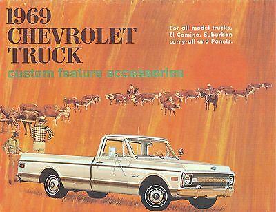 Chevrolet Truck Accessories Brochure - 1969 CHEVROLET TRUCK  GENUINE ACCESSORIES BROCHURE-COVERS ALL MODELS
