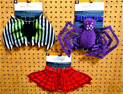 HALLOWEEN Dog Puppy Costume Harness S or M CHOOSE TYPE Beetle / Spider / Devil ](Halloween Dog Spider)