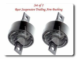 Set 2 Rear Suspension Trailing Arm Bushing Fits: INTEGRA CIVIC DEL SOL CR-V CRX