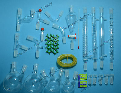 35pcs2440new Advanced Organic Chemistry Glassware Kitlaboratory Glass Set