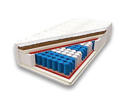 Matratze 100x200 FAMILY 7 ZONEN KOKOS Premium Taschenfederkern H3 H4 17cm NEU