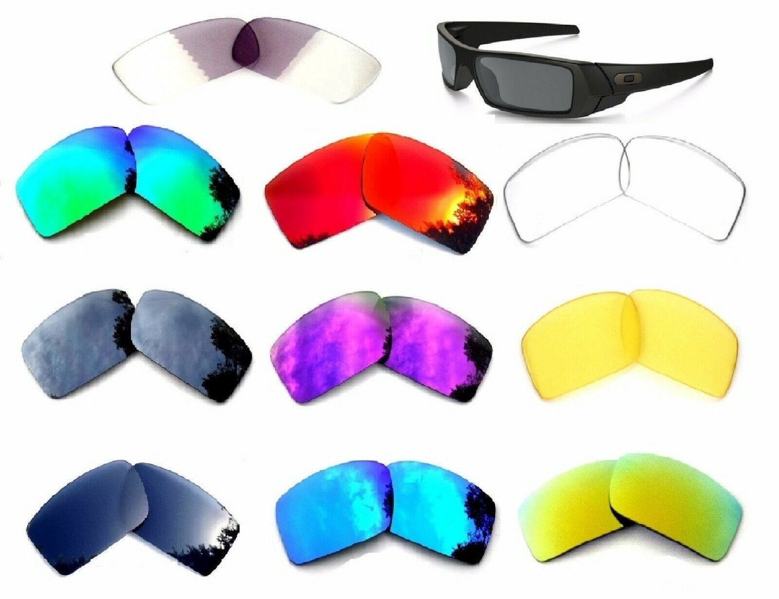 Galaxy Replacement Lenses For Oakley Gascan Sunglasses Multi
