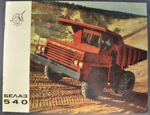 1966-1967 USSR BelAZ-540 Dump Truck Brochure English+Belarusian Text Autoexport