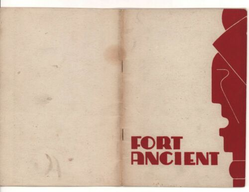 Fort Ancient (Ohio)  Book w/ Photos by Richard Morgan,1946, First Edition w/ Map