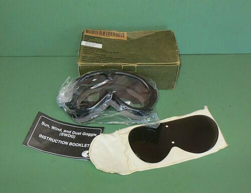 US Military Issue Sun Wind & Dust Goggles SWDG Mine Safety Appliances NEW