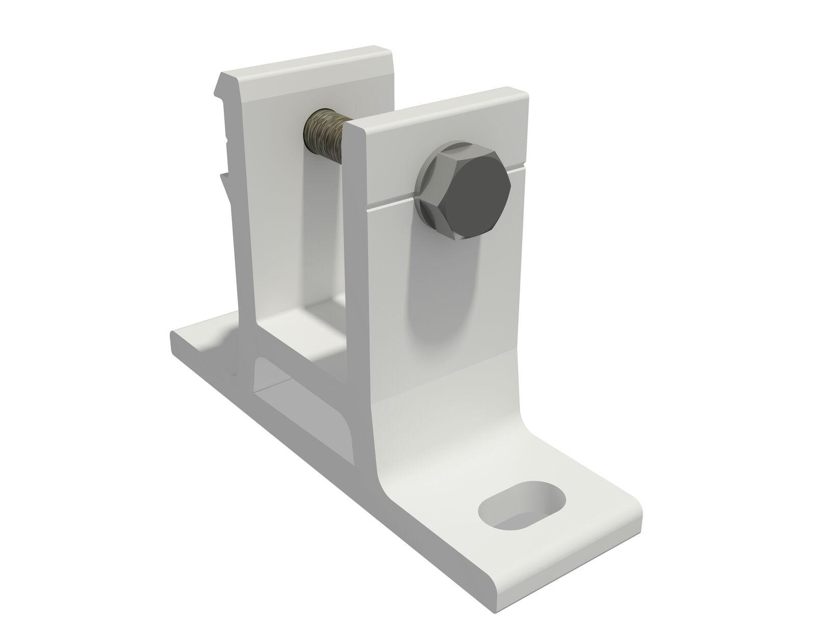 Deckenhalter Deckenhalterung Markisenbefestigung PARAMONDO Curve weiß 2er Set