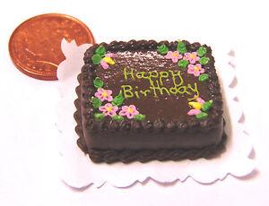 1-12-Oblong-Birthday-Cake-Dolls-Miniature-House-Kitchen-Food-Accessory-SC10