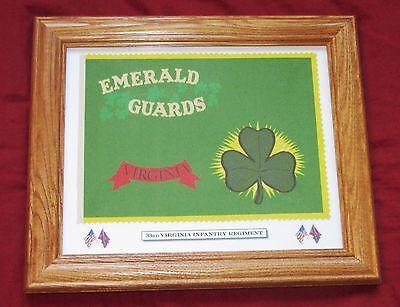 American Civil War Flag, Southern Flag.... 33rd Virginia Irish, Emerald Guards
