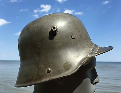 WW1 WWI GERMAN M17 Steel Stahlhelm Trench Helmet 1917 COMPLETE Liner Chinstrap