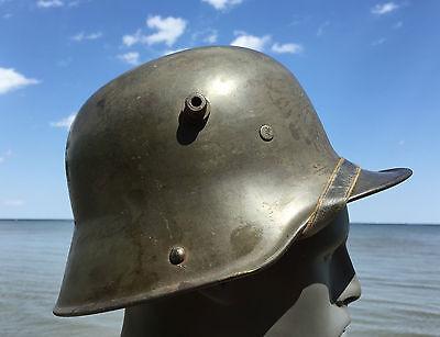 WW1 WWI GERMAN M17 Steel Stahlhelm Trench Helmet 1917 COMPLETE Liner Chinstrap