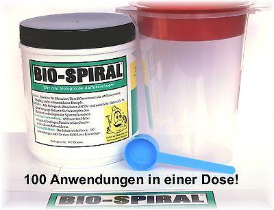 Bio-Spiral der rein biolog. Rohrreiniger! Ohne Chemie ( Bio-Clean, Abflussfrei )
