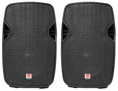 "2 Rockville SPGN108 10"" Passive 800W DJ PA Speakers ABS Lightweight Cabinet 8ohm"