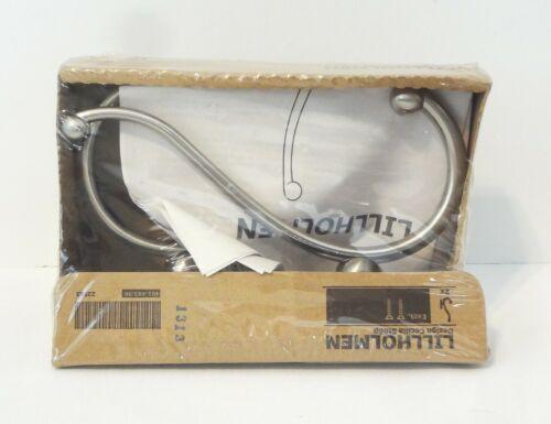 IKEA LILLHOLMEN Double Wall Hooks 2-Pack Brushed Steel 401.493.96, 22583 NIP