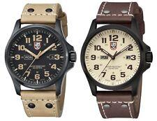 Luminox Men's Atacama Field Day-Date Black PVD Leather Watch - Choice of Color