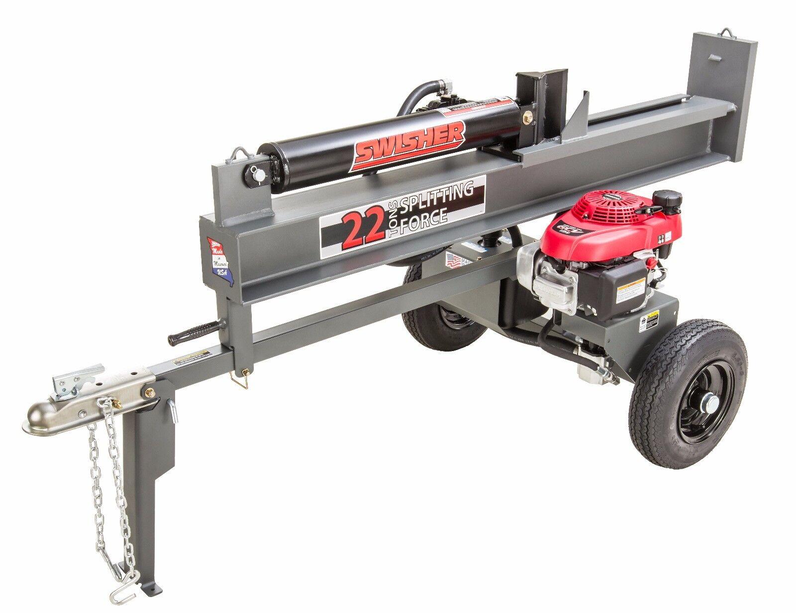 Swisher 22-Ton Honda Powered Horizontal / Vertical Gas Log S