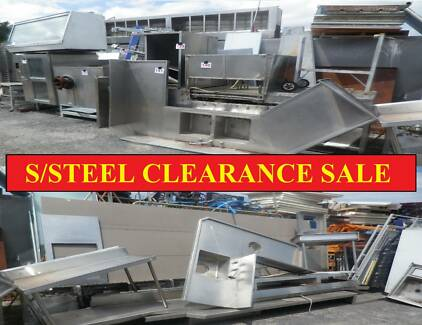 STAINLESS STEEL BENCHING -YARD SALE - BENCHING SINKS Campbellfield Hume Area Preview