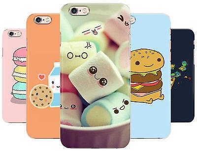 Cute Animed Food Marshmallow Burger Milk Phone Cover Case fits Apple - Cute Marshmallows