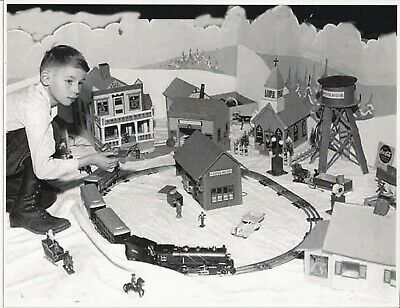 Lionel Picture Boy Playing With Train Set, Christmas?