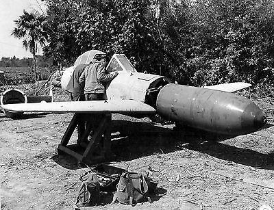 WWII B&W Photo Japanese MXY7 Ohka Suicide Bomber  World War Two WW2 / 6111