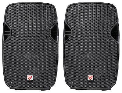 "2 Rockville SPGN104 10"" Passive 800W DJ PA Speakers ABS Ligh"