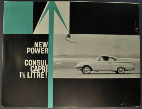 1963 Ford Consul Capri 1500 Coupe Brochure Folder English Nice Original 63